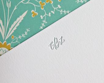 Custom Monogram Letterpress Stationery | Personalized Letterpress Stationery
