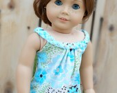 Blue/Turquoise/Green Summer Tank Top for American Girl Dolls