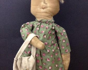 Handmade Folk Art Doll Primitive Doll Collectible Folk Art Doll