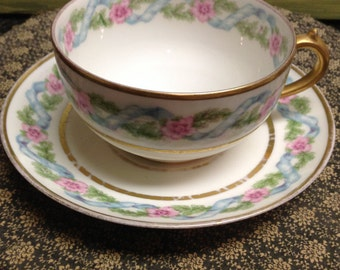 Limoges Teacup and Saucer Hostess Gift Gift for Her Teacher Gift