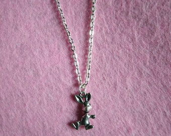 Metal silver pendant rabbit necklace