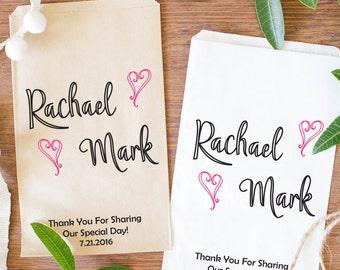 Wedding Favor Bags, Wedding Anniversay Favor, Candy Buffet Bags, Kraft Favor Bags- BWE-53