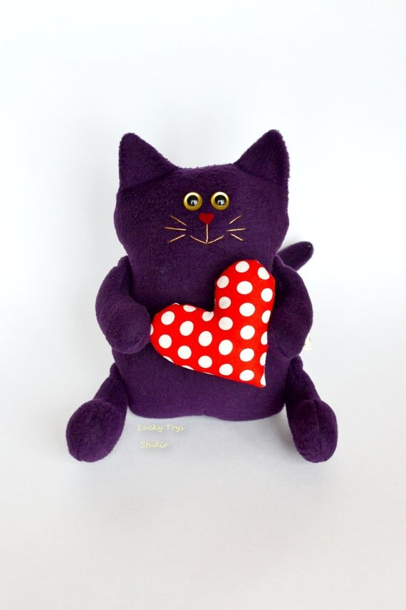 For Valentine S Day Cat Toys : Purple cat stuffed animals valentines gift plushies christmas