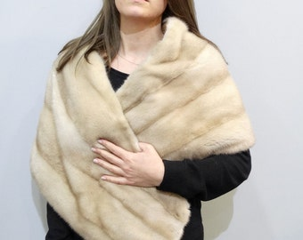 Fur stole,Wedding shawl,Fur scarf,Winter wedding,Fur wrap,Real Fur Stole,Mink fur stole,Fur bolero,Big fur shawl,накидка,манто F354