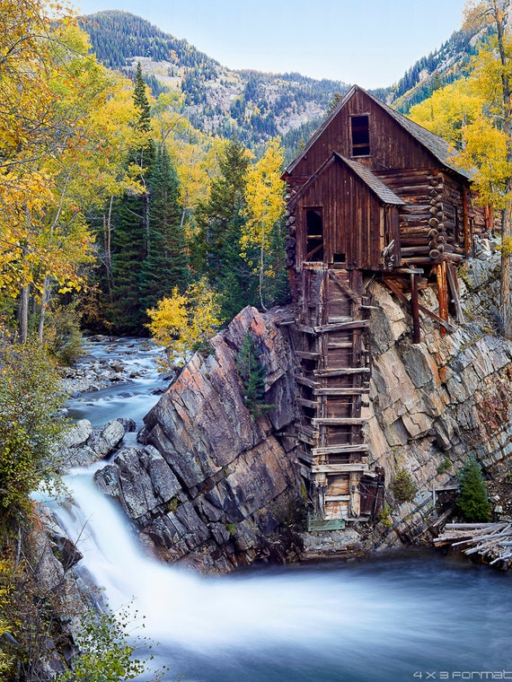 Crystal Mill Floatplaq Framed Print Autumn By