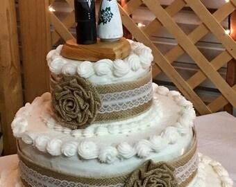 Custom Wedding Peg Doll Cake Topper