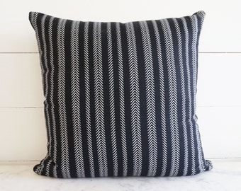 16x16 Mud Cloth Style Black and White Arrow Pillow Cover