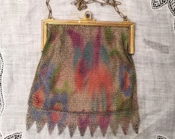 Antique Painted Mesh Handbag
