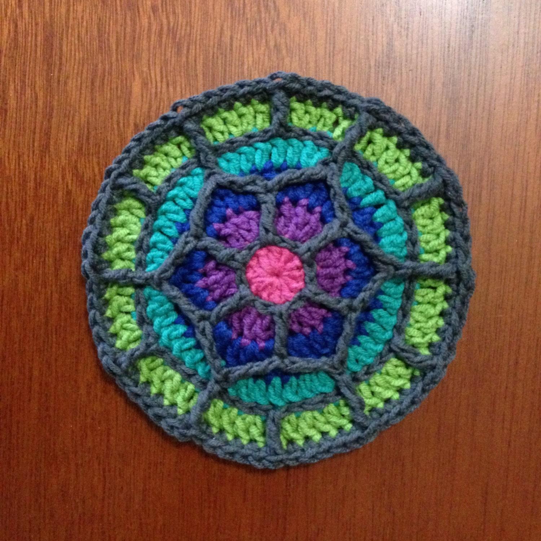 Crochet Square Coaster Tutorial ~ manet for .