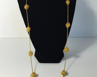 Gold Scribbles Necklace