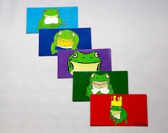 Stickyfrogs Decorative Frog Design Magnets - Set of 5