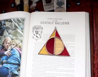 Gryffindor House Deathly Hallows Suncatcher