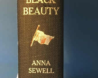Vintage book Anna Sewell Black Beauty  Junior Deluxe Editions CV1
