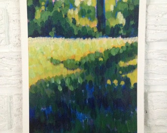 Acrylic Painting on Paper - Landscape