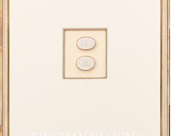 "Award Winning Framed Intaglios: Double Intaglio with Tiberian Signature Frame, 18 3/4"" x 23"""