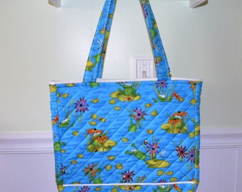 Fun Frog Tote Bag