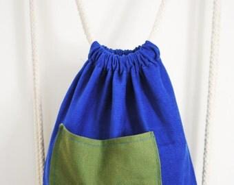 Corduroy & Canvas drawstring backpack