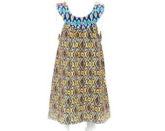 Girl Batik Dress / Ikat Dress / Girls Dress / Baby Girl Dress / Summer Dress / Bali Dress / Yellow Dress / Beautiful Dress / Toddler Dress