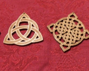 Christmas Ornament Set Of 4 Engraved Celtic Knots