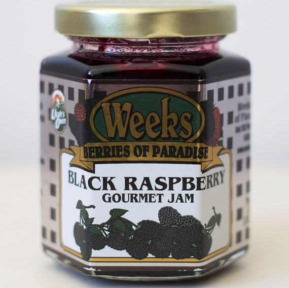 All Natural, Organic, Gourmet, Black Raspberry Jam - Utah's Own, Preserves, Jelly, Marmalade