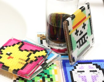 Pixel art coasters **made to order**