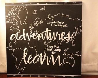 Adventures Map Chalkboard