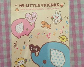 My Little Friends Kawaii memo pad-4 designs