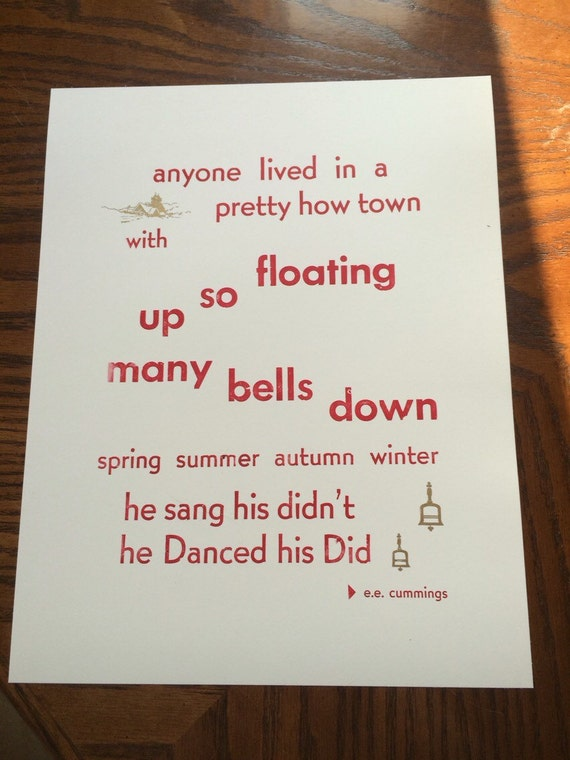 love in ee cummings poem anyone lived in a pretty how town Cared for anyone not at all  where i lived, and what i lived for 28 conclusion 29 a psalm of life  e e cummings anyone lived in a pretty how town.