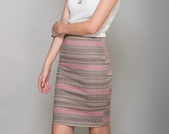 Colorful Midi Skirt
