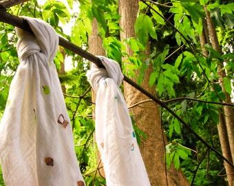 any.wear Bamboo Muslin Swaddle/Wrap - Woodland Owl (2-Pack)