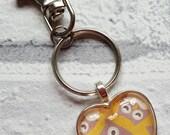 Owl Keyring - Housewarming gift - Keychain - Stocking Filler - Christmas Gift - Gifts for Her - Owl gift -  Animal Gift - Cute Owl Gift