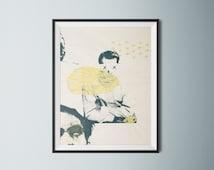 Poster frame - gold silkscreen