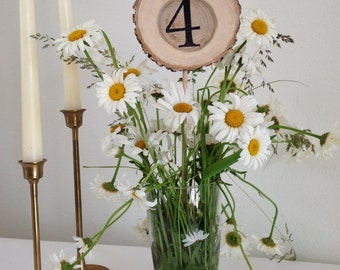 Table Numbers, ( 12 numbers) Rustic Wedding Table, Wood Slices, Wedding Table Decor, Table Number, Rustic Wedding, Wedding Centerpiece,