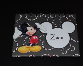 Personalized Disney Mickey Mouse Autograph Book