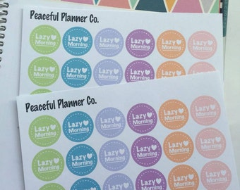 Lazy Morning Stickers - Erin Condren Life Planner