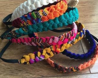 Guatemalan headbands: elastic or tie