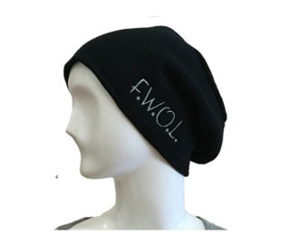 Beanie - Slouch, Original Embroidered Design