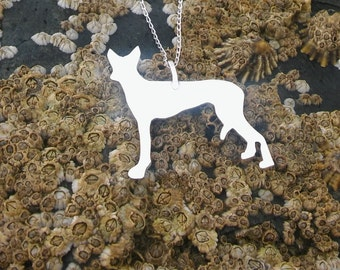 Silver dog necklace, Sterling Silver necklace, Silver dog pendant, Dog lover gift, Animal lover gift, Silver necklace, Birthday gift.