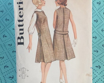 Vintage 50s, Jumper, Misses 50s Dress, Back button, Inverted Pleat, Butterick 3179, Size 14, Bust 34