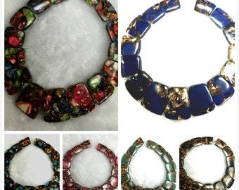 Gold Jasper Gemstone Pendant Necklace Beads
