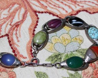 Boho Bracelet+Vintage+8 inch Length+Charm End Detail
