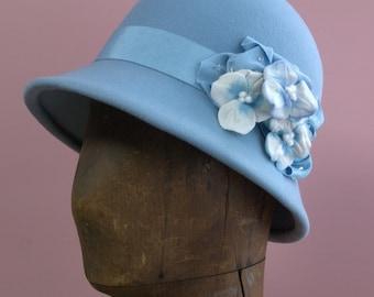 Elegant Cloche, Pansy Cloche, Flower Hat, パンジー冬のクロッシェ