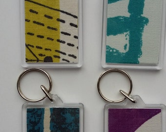 Key rings: in mid-century modern fabrics, Lucienne Day, 1950s