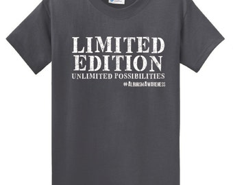 Limited Edition - Charcoal - Albinism Awareness Shirt