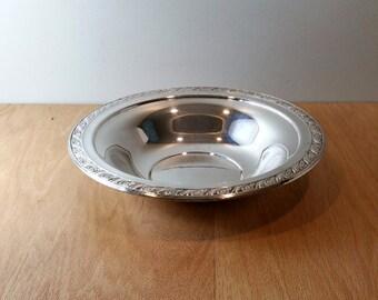 Silver Bowl Large Vintage Wedding Decor Candy Dish Silver Dish Vintage Shabby Decor Candy Bowl Serving Dish