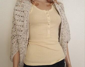 Stylish & Simple Shrug Crochet, Cardigan Shrug, Crochet Shrug, Crochet Cardigan Shrug, Crochet Sweater