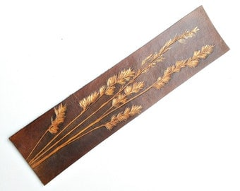 "Leather Bookmark ""Summer Night"""