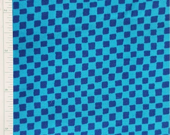 """Checkerboard, Blue Checked Fabric, """"Party Parade"""" by P& B Textiles, 100% Cotton, Quilt Fabric, Bright colors, BTY, BTHY, OOP"""
