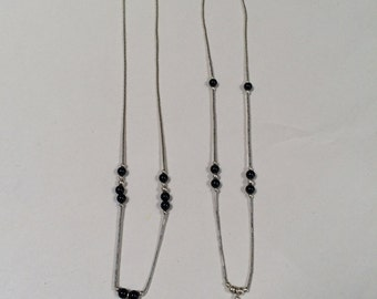 Black Onyx Liquid Silver (5 Different Styles)
