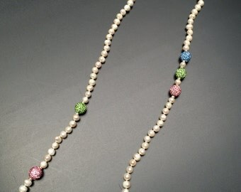 Freshwater Pearl with Crystal Beaded Necklace